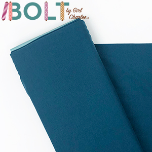 10 Yard Bolt Peacock Blue Solid Cotton Spandex Knit Fabric