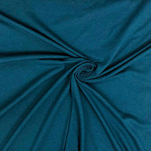 Peacock blue solid cotton spandex knit fabric girl charlee for Best peacock blue paint color