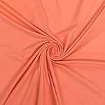 Peach Solid Cotton Spandex Knit Fabric