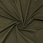 Dark Olive Green Solid Cotton Spandex Knit Fabric