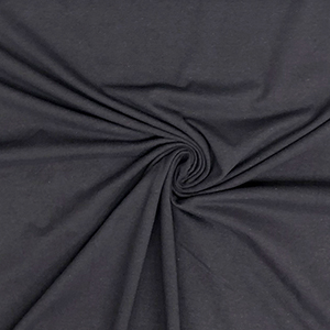 Charcoal Gray Solid Cotton Spandex Knit Fabric