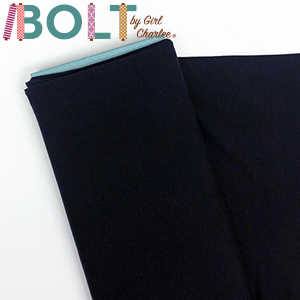 10 Yard Bolt Navy Blue Solid Cotton Spandex Knit Fabric