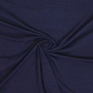Navy Blue Solid Cotton Spandex Knit Fabric