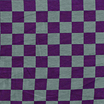 Purple Gray Check Modal Cotton Spandex Knit Fabric