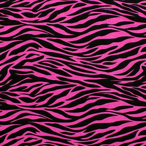 Hot Pink Black Zebra Print Modal Cotton Spandex Knit Fabric