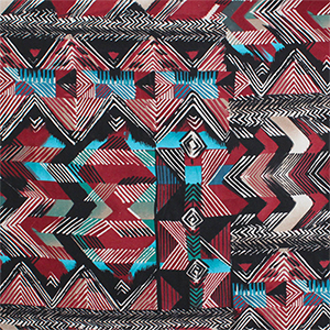 Abstract Chevron Arrow Tribal Modal Cotton Spandex Knit Fabric