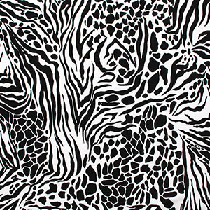 Cheetah Zebra Animal Print Cotton Spandex Knit Fabric