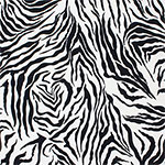 Black Zebra Stripes Cotton Spandex Knit Fabric