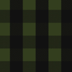 Black Olive Buffalo Plaid Cotton Spandex Knit Fabric