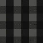 Black Charcoal Buffalo Plaid Cotton Spandex Knit Fabric