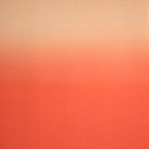 Coral Ombre Panel Cotton Spandex Knit Fabric