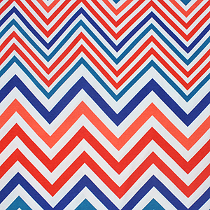 Colorful Linear Chevron Cotton Spandex Knit Fabric