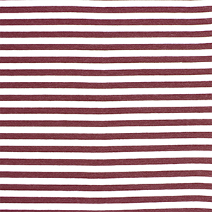 Maroon White Small Stripe Cotton Spandex Knit Fabric