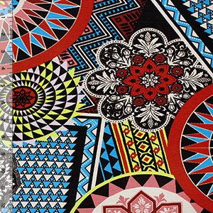Big Kaleidoscope Cotton Spandex Blend Knit Fabric