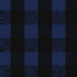 Black Royal Blue Buffalo Plaid Cotton Spandex Knit Fabric