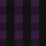 Black Purple Buffalo Plaid Cotton Spandex Knit Fabric