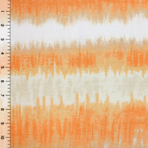 Orange Gold Tie Dye Cotton Spandex Blend Knit Fabric