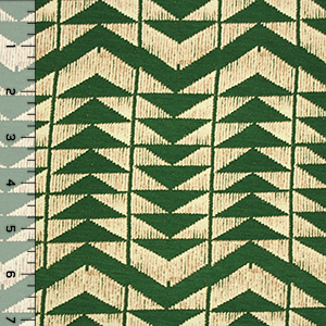 Green Arrow Trees Cotton Spandex Blend Knit Fabric