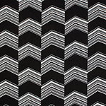 Black White Checkered Linear Arrows Cotton Spandex Blend Knit Fabric