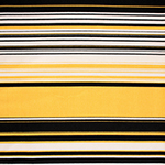 Black Mustard Multi Stripe Brushed Jersey Spandex Blend Knit Fabric