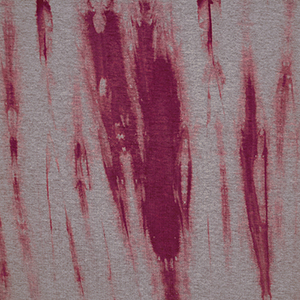 Magenta Tie Dye on Heather Gray Cotton Spandex Blend Knit Fabric