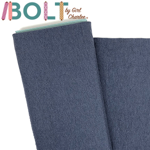 10 Yard Bolt Dark Denim Heather Solid Cotton Spandex Knit Fabric