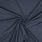 Dark Denim Heather Solid Cotton Spandex Knit Fabric