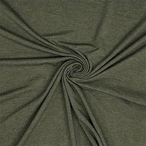 Olive Green Heather Solid Cotton Spandex Knit Fabric