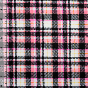 Simona Plaid Cotton Spandex Blend Knit Fabric