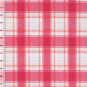Half Yard Sadie Plaid Cotton Spandex Blend Knit Fabric