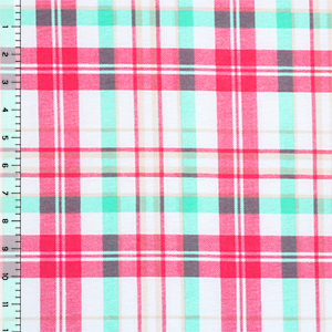 Half Yard Sophie Plaid Cotton Spandex Blend Knit Fabric
