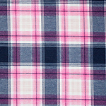 Serena Plaid Cotton Spandex Blend Knit Fabric