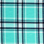 Selby Plaid Cotton Spandex Blend Knit Fabric