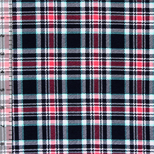 Shai Plaid Cotton Spandex Blend Knit Fabric