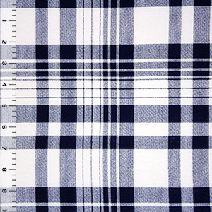 Sydney Plaid Cotton Spandex Blend Knit Fabric