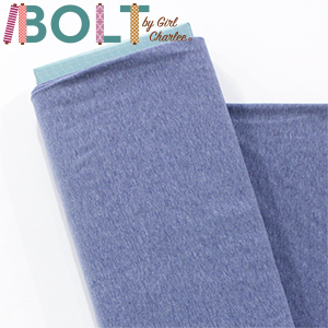 10 Yard Bolt Light Denim Heather Solid Cotton Spandex Knit Fabric