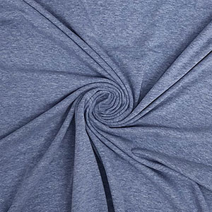 Light Denim Heather Solid Cotton Spandex Knit Fabric