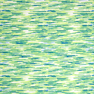 Blue Lemon Lime Space Dyed Double Brushed Jersey Spandex Blend Knit Fabric