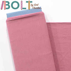 10 Yard Bolt Dark Rose Solid Cotton Spandex Knit Fabric