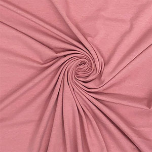 Dark Rose Solid Cotton Spandex Knit Fabric