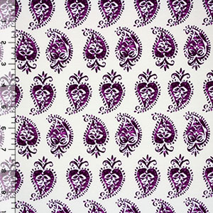 Purple Apple Hearts Modal Cotton Spandex Knit Fabric
