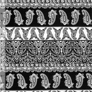 Paisley Heart Rows Cotton Spandex Blend Knit Fabric