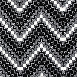 Black White Zig Zag Dot Brushed Jersey Spandex Blend Knit Fabric