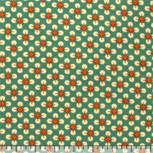 Orange Teal Green Atomic Dot Modal Cotton Spandex Knit Fabric
