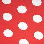 Big Dot on Fiery Coral Cotton Spandex Blend Knit Fabric