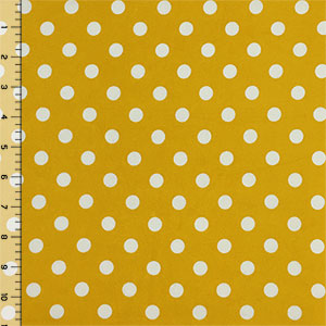 d7887e76ecf Ivory Dots on Mustard Double Brushed Jersey Spandex Blend Knit ...