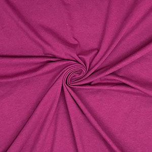 Dark Magenta Solid Cotton Spandex Knit Fabric