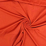 Rust Orange Solid Cotton Spandex Knit Fabric