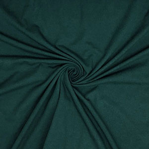 Hunter Green Solid Cotton Spandex Knit Fabric