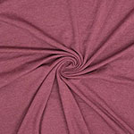 Burgundy Heather Solid Cotton Spandex Knit Fabric